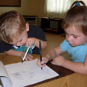 Boy n Girl Writing