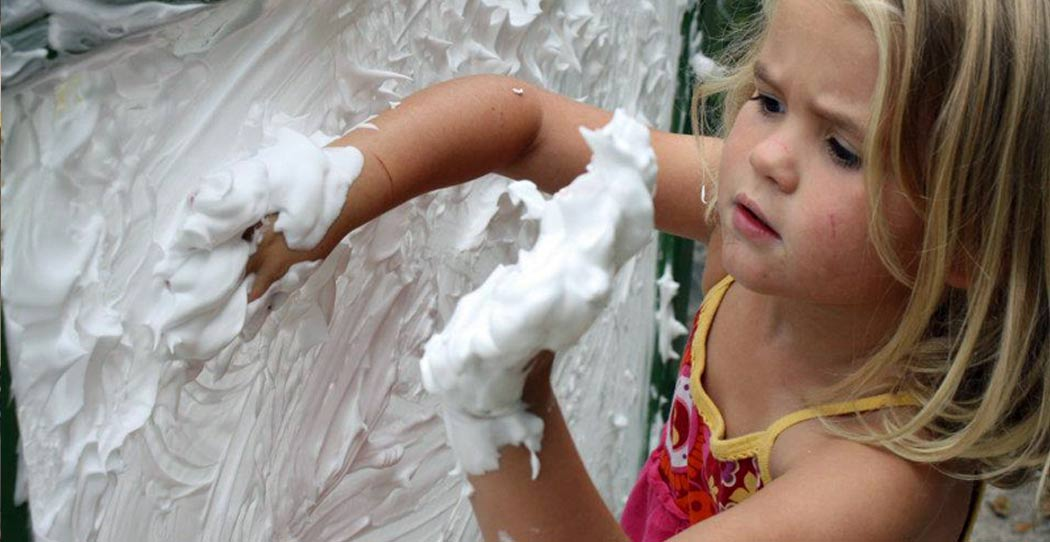 Shaving Cream Art.